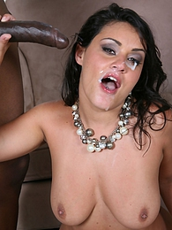 A huge black cock completely rocks a busty white girl Charley Chase pictures at freekiloporn.com