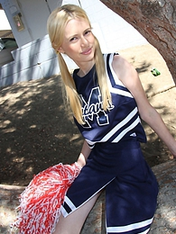 A blonde cheerleader Kennedy Kressler dances only for big black cock pictures at freekilosex.com