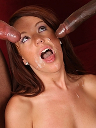 A young white girl Lizzie Tucker experiences a couple of black cocks for the first time pics