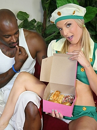 Generous black guy uses a tiny blonde Tristyn Kennedy as a receptacle for his black cock pics