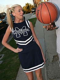 The head cheerleader Kaylee Hilton gets her ass stuffed by a black jock's cock pictures