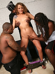 Sexy brunette Kennedy Dream prowls the city for black cocks to satisfy pictures at freekilosex.com
