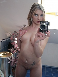Cute blonde teen gets her tits and pussy on camera pictures at find-best-tits.com