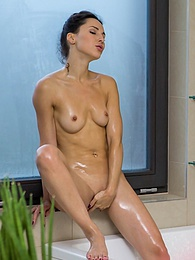Lilu Moon catches her brother in law watching her shower and decides to fuck him pictures at freekiloporn.com