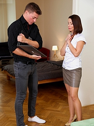 Mature landlord Caroline Ardulino fucks her renter hard pictures at find-best-babes.com