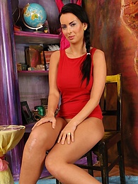 Busty brunette babe Baja pulls off her clothes and spreads her legs pictures at dailyadult.info