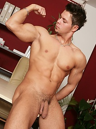 Ripped naked boy Angelo Godshack flexes his love muscle pictures at kilopics.com