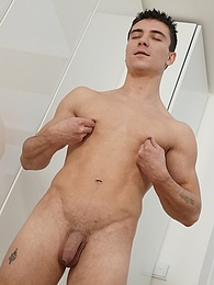 Ryan Code strokes his beautiful uncut cock after playing soccer pictures at find-best-ass.com