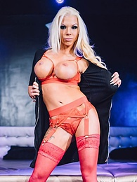 Busty Silicon Queen Slut Sins Swallows a Sticky Cumshot pictures at find-best-lingerie.com