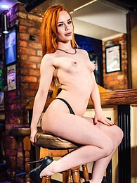 Gorgeous Redhead Swinger Beauty Ella Hughes Takes a Facial pictures at kilomatures.com