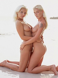 Henriette Blond and Monica Moore Have a DP Orgy at Sea pictures at freekilosex.com