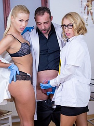 Nikky Thorne and Cherry Kiss, Assfucked Nurses in Action pictures at kilogirls.com