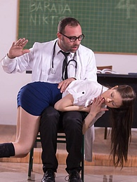 Student Nurse Rebecca Volpetti is Punished with Hard Anal pictures at adspics.com