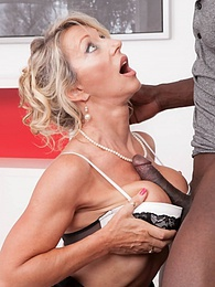 Private Brings you MILF Marina in her first interracial pictures at lingerie-mania.com
