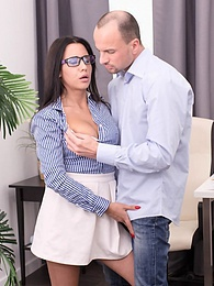 Big Natural Tits Brunette Student Chanel Lux Enjoys Anal pictures at kilogirls.com