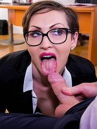 Yasmin Scott MILF and Secretary Gets Cum on Her Glasses pictures at reflexxx.net