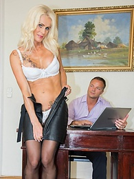 Milf Secretary Dyana Hot Fucks Her Horny Boss in the Office pics