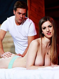 Beautiful Stella Cox Sucks & takes a Creampie After Massage pictures