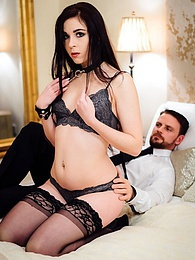 Slut Amber Nevada in stockings Masturbates Before Fucking pictures