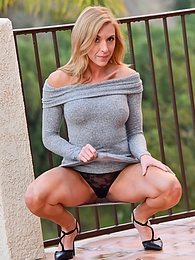 Rainy Patio Upskirts pics