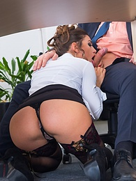 Sexy Julia Roca Has Her Hairy Pussy Pounded in the Office pictures