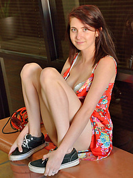 Cutie Teen In Red pictures at dailyadult.info