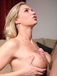 Natural Blonde Teen Ally Finishes Her Man With a Tit Wank pictures at freekilomovies.com