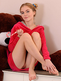 She is likes to play around in her room and cuddle her toy when she is playing a sexy game in front of the camera pictures at dailyadult.info