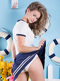 Everyone wants to see what this blonde teen has under her skirt and she is not shy about showing it off pictures at dailyadult.info