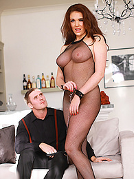 Curvy Sex Slave Brunette Emma Leigh Has the Tightest Pussy pictures at freekilosex.com