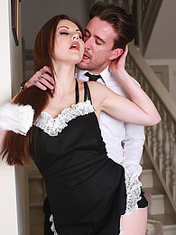 Maid Tina Kay Gets a Mouthful of Cum and She Loves It!! pictures at sgirls.net
