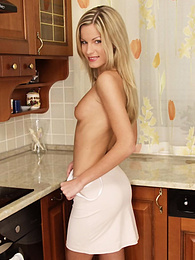 Teen Dreams - Danielle plays with herself in kitchen pictures at find-best-babes.com