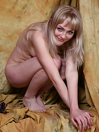 Sexy young blonde babe shows her tiny tits and pussy pictures at find-best-pussy.com