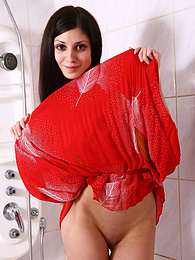 Sexy young teen spreads her pussy in shower pictures at find-best-panties.com