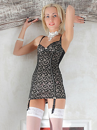 Small tits brunette beauty strips her cute dress to show you hot curves and an amazing piece of teen pussy. pictures at dailyadult.info