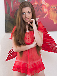 Amazing teen shows how good she looks in her new naughty costume and everything else she has under it. pictures at kilogirls.com