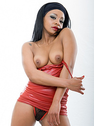 Ebony MILF Hooker Lala Sucks Cock and Gets Covered With Cum pictures at lingerie-mania.com