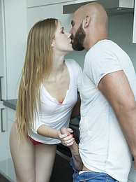 Sexy Blonde Alexis Crystal Gets Creampied by an Old Friend pictures at freekilosex.com