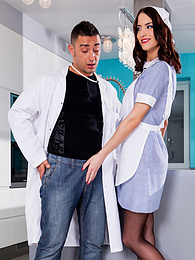 Nurse Lyen gives health lessons with her tight and round ass pictures at find-best-hardcore.com