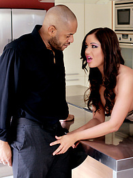 Sexy Angelica Heart in an interracial action with a big cock pictures at freekilomovies.com