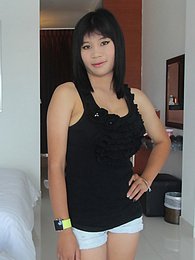 Stunning Thai babe with big puffy tits gets a creampie surprise pictures