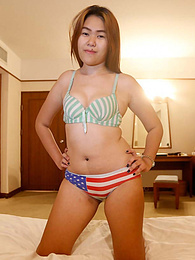 Very shy chubby Thai babe enjoys white tourist's company pictures