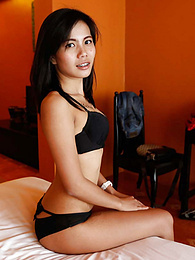 Lovely skinny Thai sweetie in braces meticulously sucks white dick pictures at lingerie-mania.com