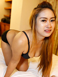 Phat-assed chubby Thai MILF feeds on white cock after cuming on top pictures at find-best-ass.com