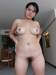 Chubby Thai babe with beautiful heavy-hangers pleases with mouth and cleavage rub pictures at find-best-panties.com