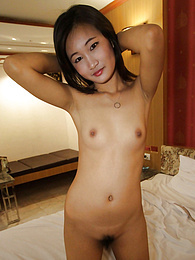 Cute Thai babe with tiny body and pussy gets naked for John pictures