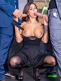 Susy Gala Enjoys A Threesome with Her Plumber and Husband pictures at freekiloporn.com