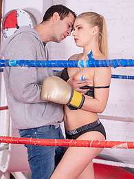 Gorgeous Boxer Fucked Hard in the Ring Gets Knockout Cumshot pictures at freekilomovies.com