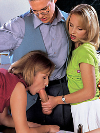 Inga, Mallory & Mari, Classroom Pets Play with Their Teacher pictures at find-best-hardcore.com