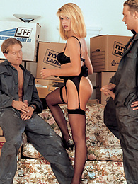 Carol, Moving Day Turns into Hardcore DP with Delivery Guys pictures at find-best-babes.com